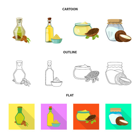 Vector illustration of healthy  and vegetable  icon. Collection of healthy  and agriculture stock symbol for web. Ilustração