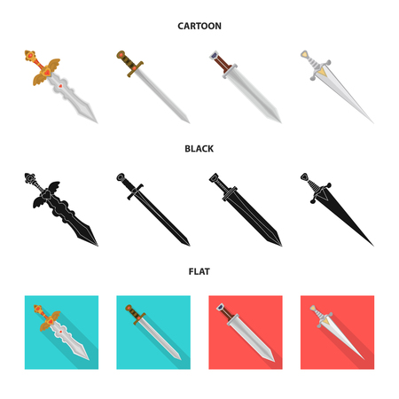Isolated object of game  and armor  icon. Collection of game  and blade  vector icon for stock. Illustration
