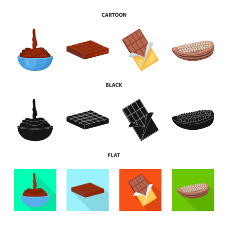 Isolated object of food and yummy icon. Set of food and brown   stock vector illustration. Standard-Bild - 118059901