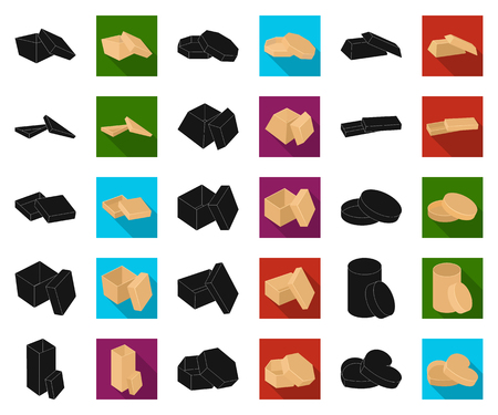 Different boxes black,flat icons in set collection for design.Packing box vector symbol stock web illustration.