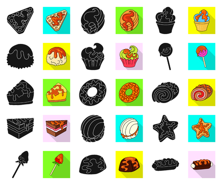 Vector illustration of dessert and sweet icon. Collection of dessert and food stock symbol for web.