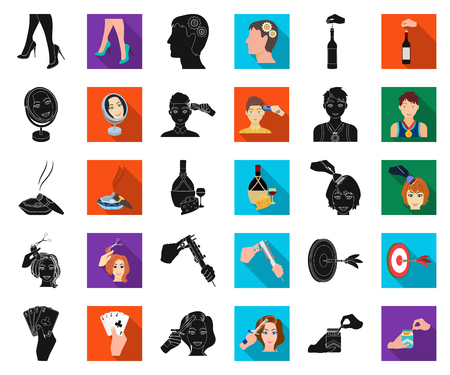 Manipulation by hands black,flat icons in set collection for design. Hand movement vector symbol stock illustration.