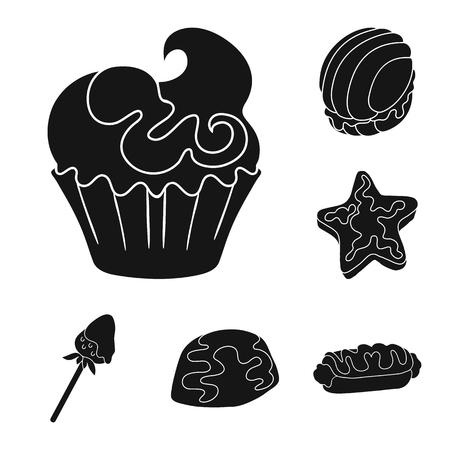 Vector illustration of sweetness and product symbol. Set of sweetness and sweet vector icon for stock. Ilustração