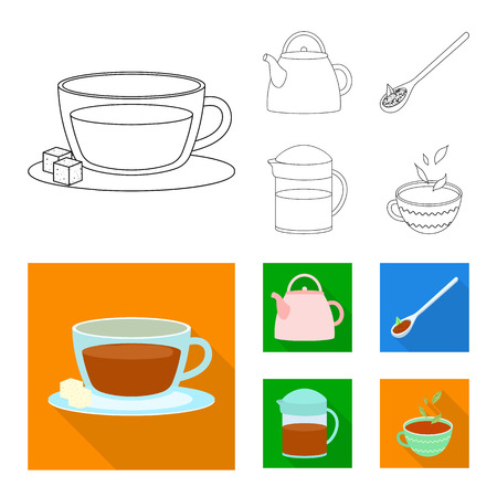 Isolated object of healthy and floral  icon. Set of healthy and gradient vector icon for stock. Illustration