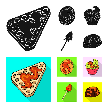 Isolated object of confectionery and culinary sign. Set of confectionery and product vector icon for stock.