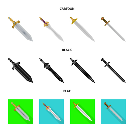 Isolated object of game  and armor  icon. Set of game  and blade  vector icon for stock. Illustration