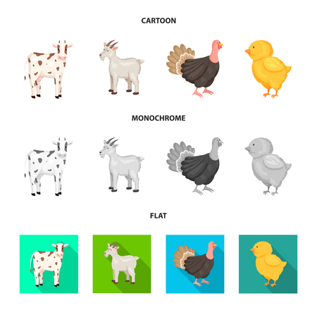 Vector design of breeding and kitchen  icon. Set of breeding and organic  stock vector illustration.