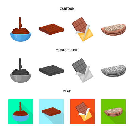 Isolated object of food and yummy sign. Collection of food and brown   vector icon for stock. Standard-Bild - 117834967
