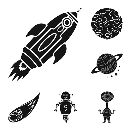 Vector design of colonization and sky icon. Collection of colonization and galaxy vector icon for stock.
