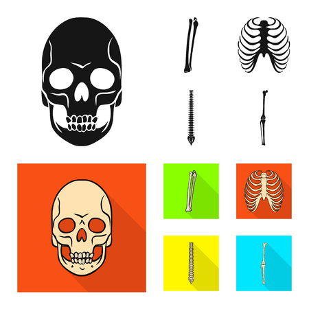 Vector design of medicine and clinic icon. Set of medicine and medical stock vector illustration.