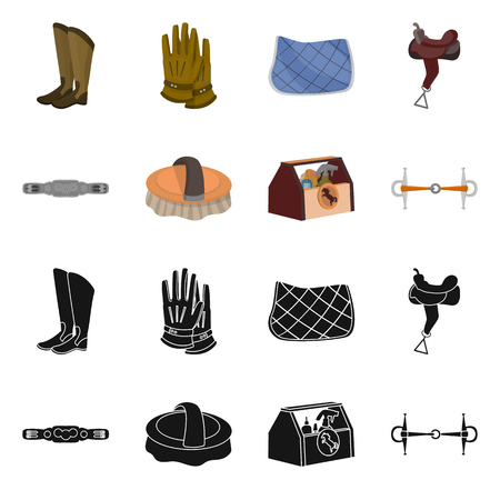 Vector illustration of equipment and riding icon. Set of equipment and competition vector icon for stock. 写真素材 - 124896693