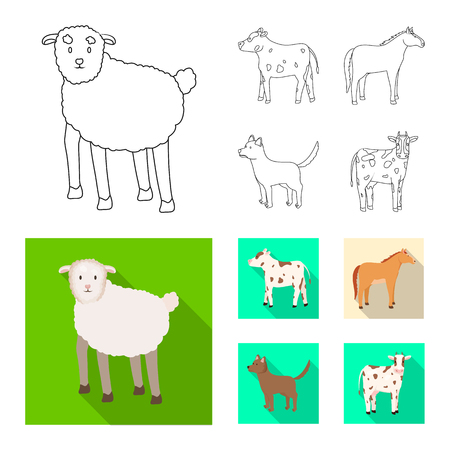 Vector illustration of breeding. Set of breeding and organic  vector icon for stock.