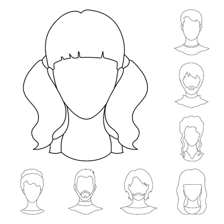 Isolated object of professional and photo icon. Set of professional and profile vector icon for stock. Ilustração