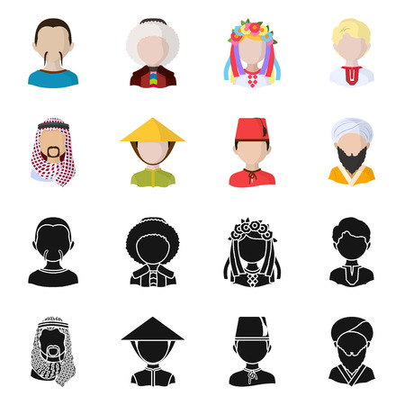Vector design of imitator and resident icon. Collection of imitator and culture vector icon for stock. Çizim