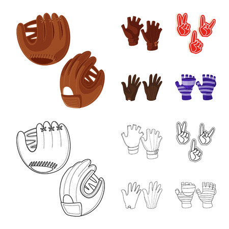 Isolated object of silhouette and safety icon. Set of silhouette and comfort stock symbol for web. Illustration