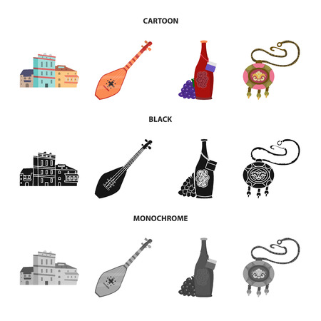Isolated object of culture and sightseeing sign. Collection of culture and originality vector icon for stock.