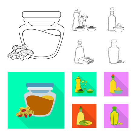 Vector illustration of healthy  and vegetable. Set of healthy  and agriculture stock vector illustration. Ilustração