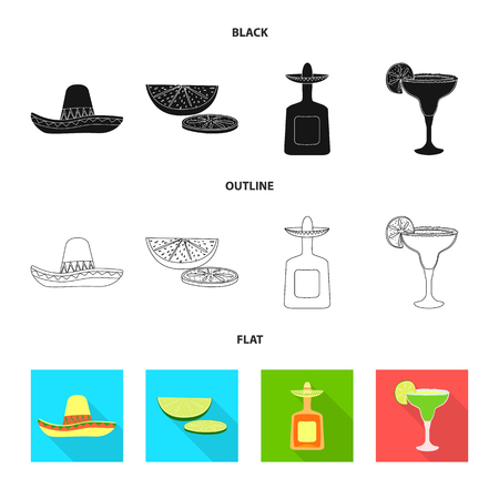 Isolated object of cafe and Latin sign. Set of cafe and national stock vector illustration. Stok Fotoğraf - 124896746