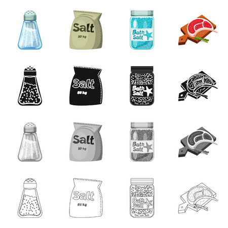 Isolated object of cooking and sea symbol. Collection of cooking and baking   stock vector illustration.