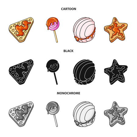 Vector illustration of confectionery and culinary logo. Set of confectionery and product vector icon for stock.