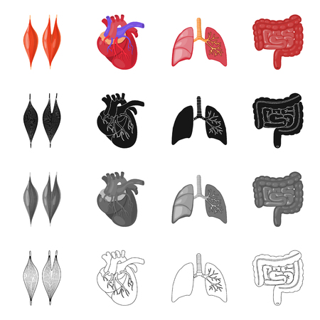Isolated object of biology and scientific symbol. Collection of biology and laboratory vector icon for stock.