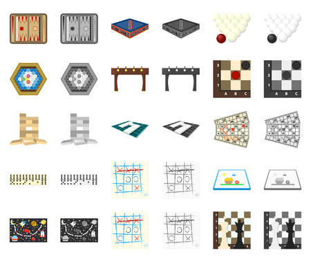 Board game cartoon,monochrom icons in set collection for design. Game and entertainment vector symbol stock web illustration. Illustration