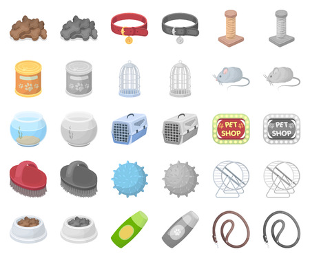 Pet shop cartoon,monochrom icons in set collection for design.The goods for animals vector symbol stock web illustration.