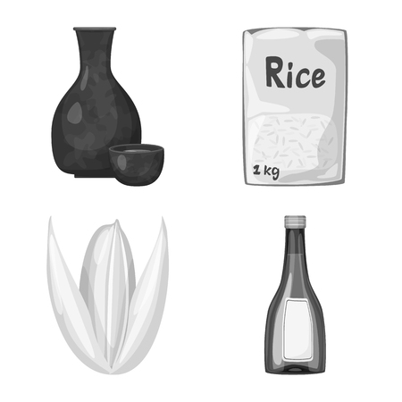 Isolated object of food and organic symbol. Collection of food and agricultural vector icon for stock.