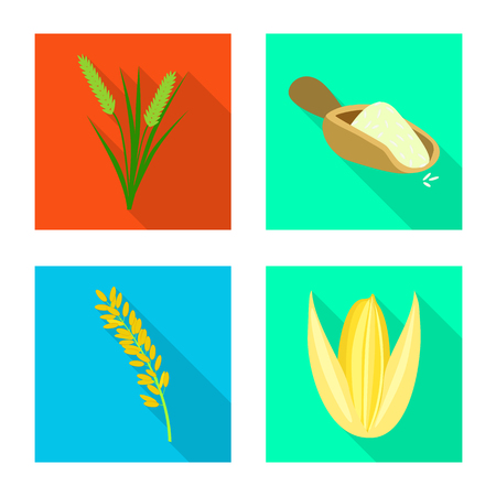 Isolated object of raw and agricultural icon. Collection of raw and ecological stock symbol for web.