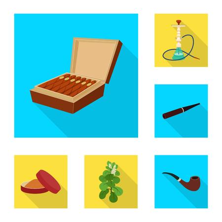 Vector design of smoke and statistics symbol. Collection of smoke and stop stock vector illustration. Ilustração