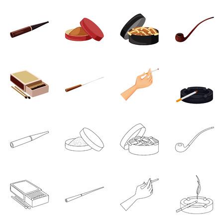 Ilustración de vector de basura y símbolo de parada. Conjunto de símbolo de stock de basura y hábito para web.