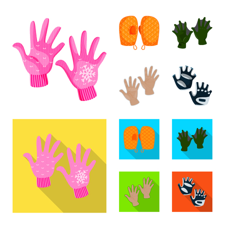 Vector illustration of silhouette and safety symbol. Set of silhouette and comfort vector icon for stock. Vettoriali