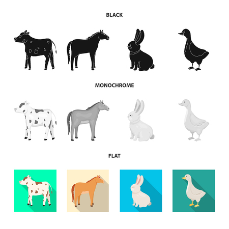 Vector illustration of breeding and kitchen. Set of breeding and organic  vector icon for stock.  イラスト・ベクター素材