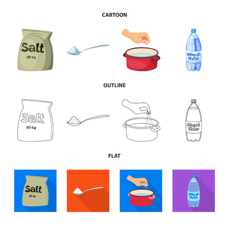 Vector illustration of cooking and sea icon. Collection of cooking and baking   stock vector illustration.
