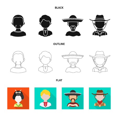 Isolated object of imitator and resident sign. Collection of imitator and culture vector icon for stock. Ilustração