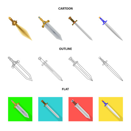 Vector design of game  and armor  icon. Collection of game  and blade  stock symbol for web. Illustration
