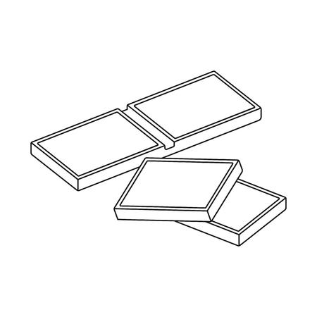 Diseño vectorial de pieza y logo de chocolate. Conjunto de símbolo de stock pieza y malvaviscos para web.
