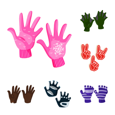 Vector illustration of accessory and style icon. Collection of accessory and distinctive vector icon for stock. 일러스트