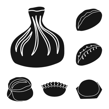 Isolated object of cuisine  and appetizer. Set of cuisine  and food  vector icon for stock. Illustration