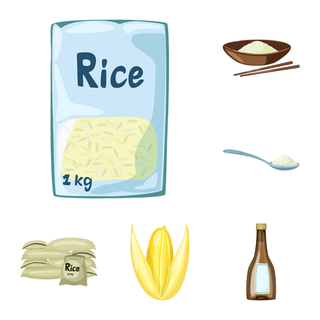 Vector illustration of food and organic icon. Collection of food and agricultural stock symbol for web.