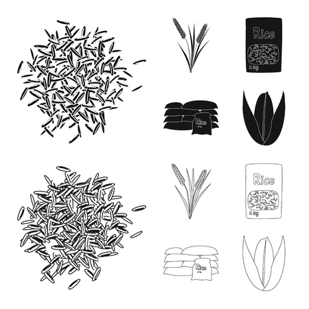 Isolated object of crop and ecological icon. Collection of crop and cooking vector icon for stock.
