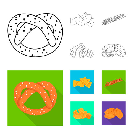 Vector illustration of Oktoberfest and bar logo. Set of Oktoberfest and cooking stock vector illustration.  イラスト・ベクター素材