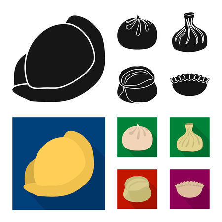 Isolated object of products  and cooking symbol. Collection of products  and appetizer stock vector illustration.