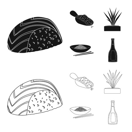 Vector illustration of crop and ecological logo. Collection of crop and cooking stock vector illustration.