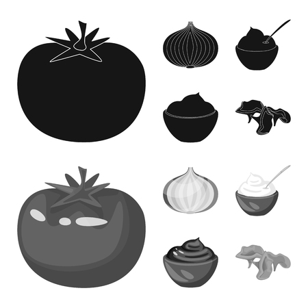 Isolated object of taste and product sign. Collection of taste and cooking vector icon for stock.