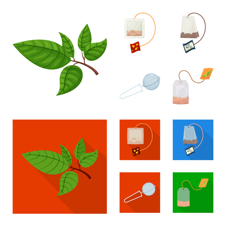Vector illustration of healthy and floral  icon. Collection of healthy and gradient stock symbol for web.