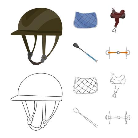 Vector design of equipment and riding logo. Collection of equipment and competition stock vector illustration.