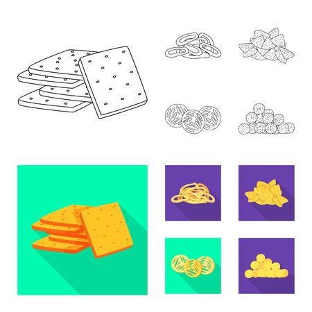 Vector illustration of Oktoberfest and bar symbol. Set of Oktoberfest and cooking vector icon for stock.
