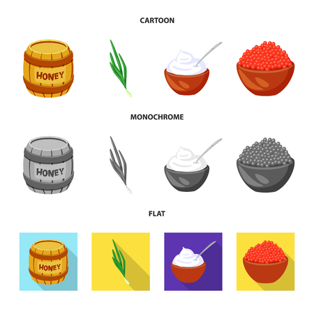 Vector design of taste and product sign. Collection of taste and cooking vector icon for stock.