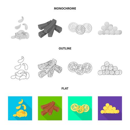 Vector illustration of Oktoberfest and bar icon. Set of Oktoberfest and cooking vector icon for stock.